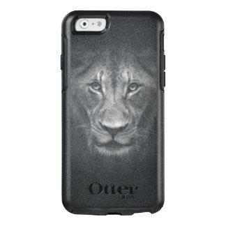 Löwe-Gesichts-nahes hohes Schwarzweiss-Porträt OtterBox iPhone 6/6s Hülle