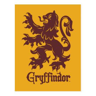 Löwe-Grafik Harry Potters | Gryffindor Postkarte