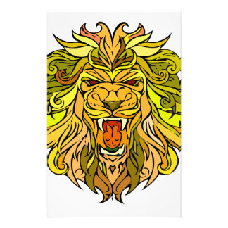 Löwe-Grafikdesign Briefpapier