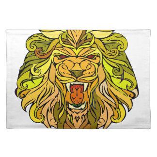 Löwe-Grafikdesign Stofftischset