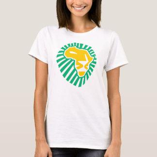 Löwe HauptWaka-waka gelber blauer Frauen-T - Shirt
