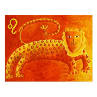 Löwe-Horoskop-Tierkreis-Stern-Zeichen Postkarte