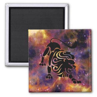 Löwe-Horoskop-Tierkreis-Zeichen-Magnet Quadratischer Magnet