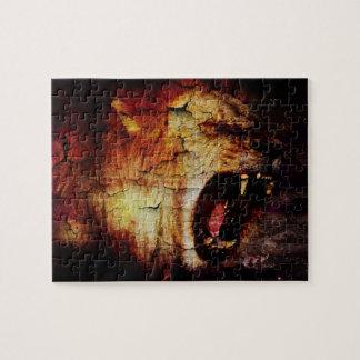 Löwe-Horoskopsafari wildes Tier-Afrikaner-Löwe Puzzle