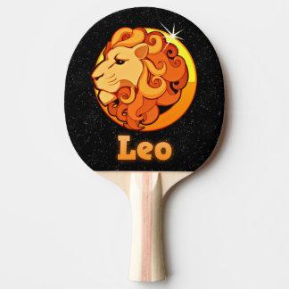 Löwe-Illustration Tischtennis Schläger