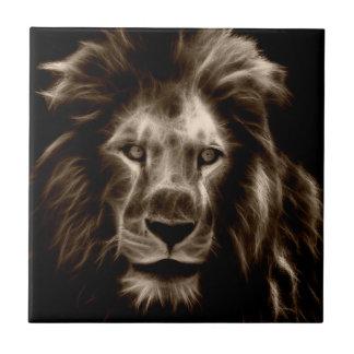Löwe im Sepia Fliese
