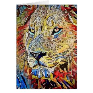 Löwe in Afrika Karte