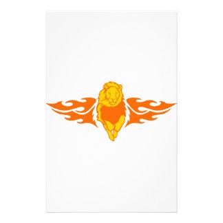 Löwe in den Flammen Briefpapier