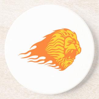 Löwe in den Flammen Untersetzer