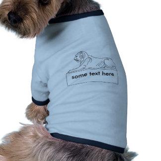 Löwe in den Kopfhörern Hund Shirts