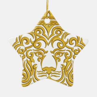 Löwe in der Krone, Nachahmung der Stickerei Keramik Ornament