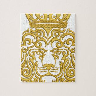 Löwe in der Krone, Nachahmung der Stickerei Puzzle