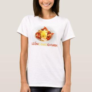 Löwe isst Garnele T-Shirt