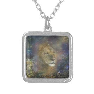 Löwe-König der Dschungel-Tiere Versilberte Kette