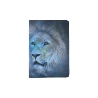 Löwe-König Modern Dark-blue Passport Holder Passhülle