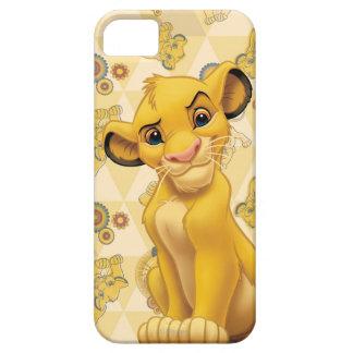 Löwe-König | Simba auf Dreieck-Muster Hülle Fürs iPhone 5
