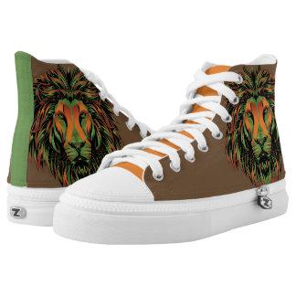 Löwe-Kriegers-Klemmen-t - Turnschuhe Hoch-geschnittene Sneaker