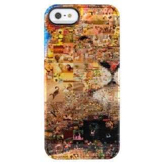 Löwe - Löwecollage - Löwemosaik - Löwe wild Durchsichtige iPhone SE/5/5s Hülle