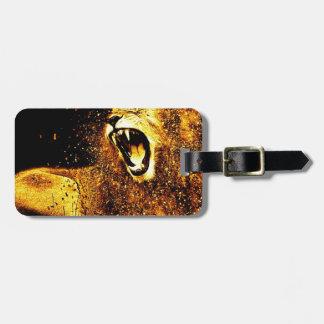 Löwe-Mähnen-Haar-Pelz-Katzen-Raubmanneskopf Gepäckanhänger