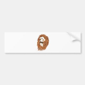 Löwe-Maske Autoaufkleber