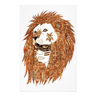 Löwe-Maske Briefpapier