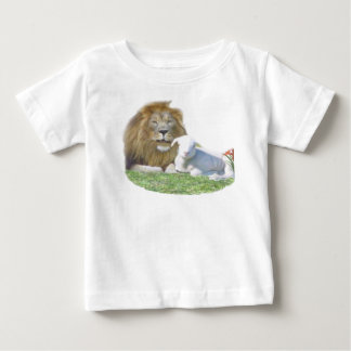 Löwe mit der christlichen Kleidung des Lamms Baby T-shirt