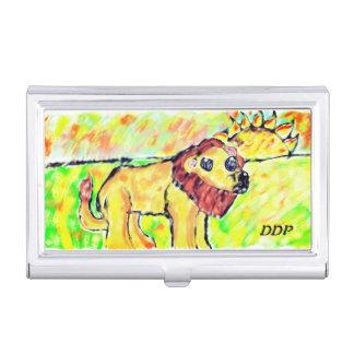 Löwe mit Licht Visitenkarten Etui