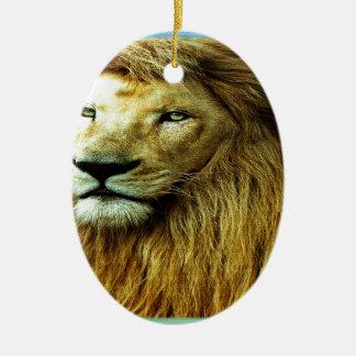 Löwe mit Regenbogen-Grenze Keramik Ornament