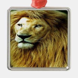 Löwe mit Regenbogen-Grenze Silbernes Ornament