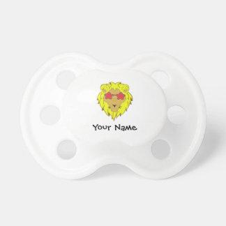 Löwe mit rosa Gläser Customizer Schnuller