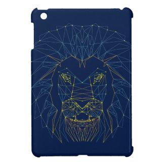 Löwe. Modischer Entwurf der tierischen iPad Mini Hülle