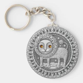 Löwe-Münzenschlüsselkette Standard Runder Schlüsselanhänger