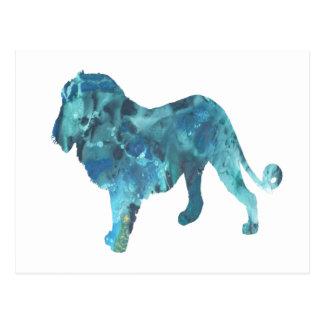 Löwe Postkarte