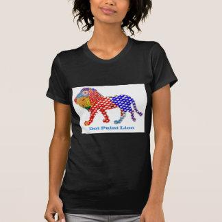 LÖWE   - Punkt gemalte künstlerische Arbeit T-Shirt