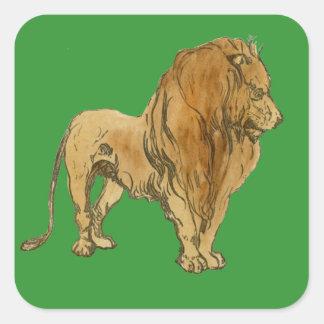 Löwe Quadratischer Aufkleber