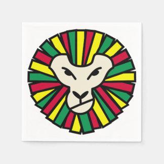 Löwe Rastafarian Flagge Papierserviette