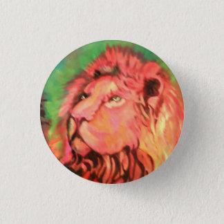 Löwe Runder Button 3,2 Cm