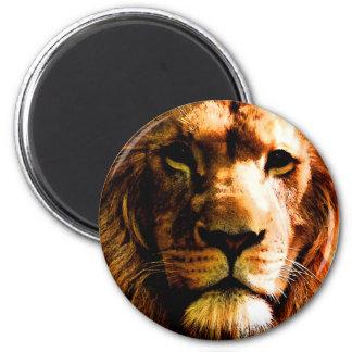 Löwe Runder Magnet 5,1 Cm