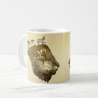 Löwe-Savanne-Tasse Kaffeetasse