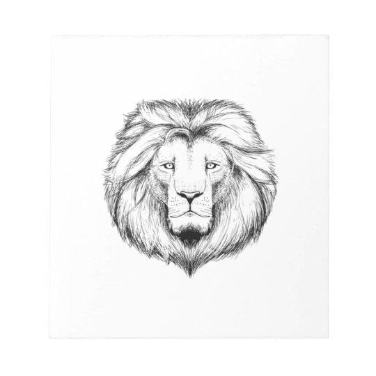 Löwe  Schreib Notiz Block Notizblock