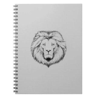 Löwe  Schreib Spiral Block Spiral Notizblock