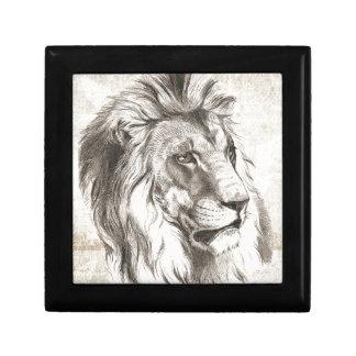 Löwe-Skizze-Art Schmuckschachtel