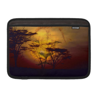 Löwe-Sonnenuntergang MacBook Sleeve