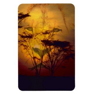 Löwe-Sonnenuntergang Magnet