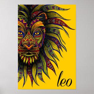 Löwe-Symbol Poster
