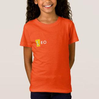 LÖWE-T-SHIRT - der Tierkreis-Farborangen-T-Stück T-Shirt