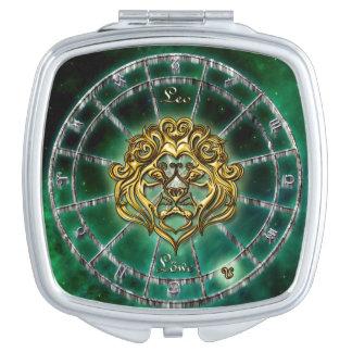 Löwe-Tierkreis-Astrologieentwurf Taschenspiegel