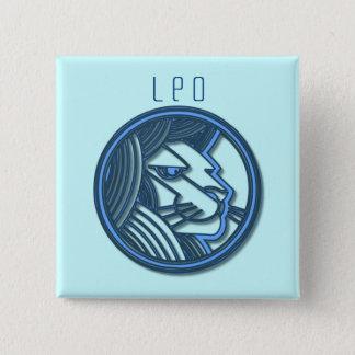 Löwe-Tierkreis-Quadrat-Button Quadratischer Button 5,1 Cm