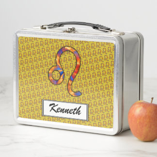 Löwe-Tierkreis-Symbol-Element durch Kenneth Metall Lunch Box