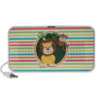 Löwe und Affe Helle Regenbogen-Streifen Lautsprecher